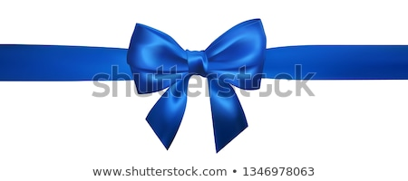 Set of Realistic blue bows. Element for decoration gifts, greetings, holidays, Valentines Day design Stock photo © olehsvetiukha