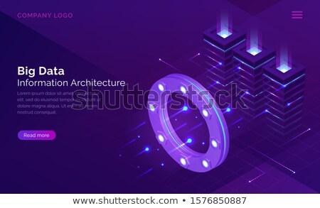 Big data architectureconcept landing page. Stock photo © RAStudio