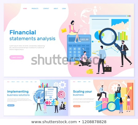 Financial Statements, Business solutions Banners Stock photo © robuart