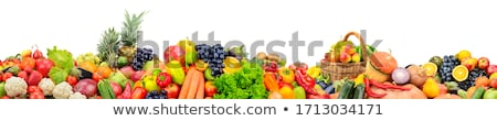 assortment fruits and vegetables on white Stock photo © serg64