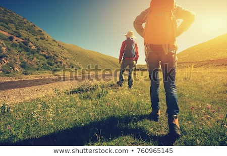 Two people going hiking Stock photo © colematt