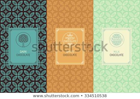 Chocolate concept icons pattern Stock photo © netkov1