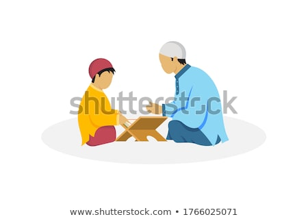 mosque vector muslim arab isolated flat cartoon illustration stock photo © pikepicture