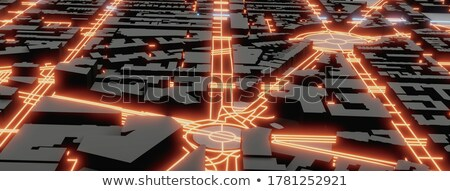 Stock photo: Smart Roads Construction Concept Banner Header