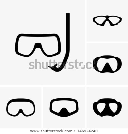 アイコン スキューバダイビング マスク 色 デザイン 海 ストックフォト © angelp