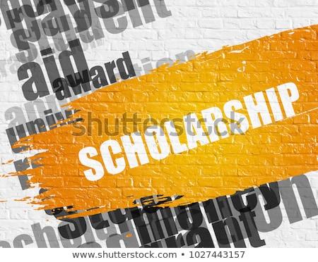 student loan on white brickwall wordcloud concept stock photo © tashatuvango