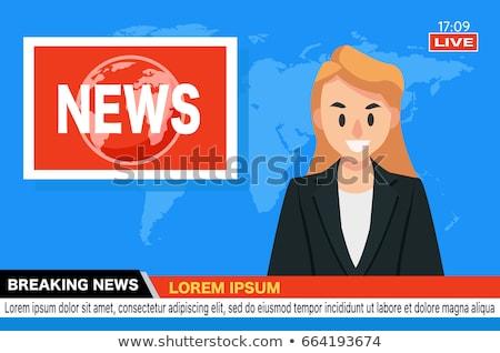 иллюстрация · молодые · бородатый · человека · экране - Сток-фото © makyzz