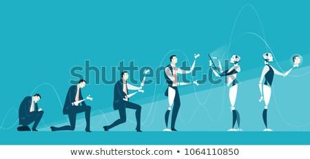 Robô humanismo inteligência artificial informática pessoas Foto stock © studiostoks