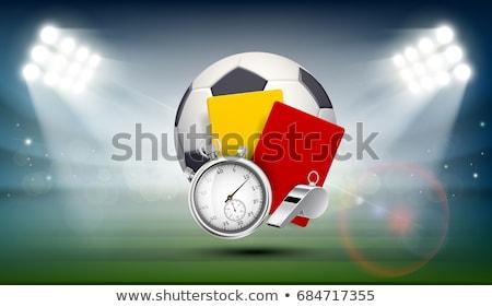 czerwony · karty · stadion · mężczyzna · sportowe · arbiter - zdjęcia stock © albund