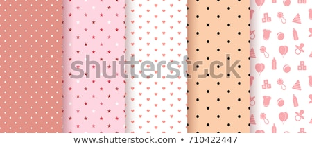 Seamless patterns for baby girl shower party. Set of cute pink backgrounds for invitation templates, Stock photo © lemony