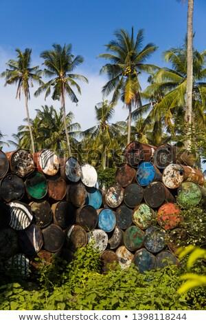 Oude lege metaal tropische milieu Stockfoto © boggy