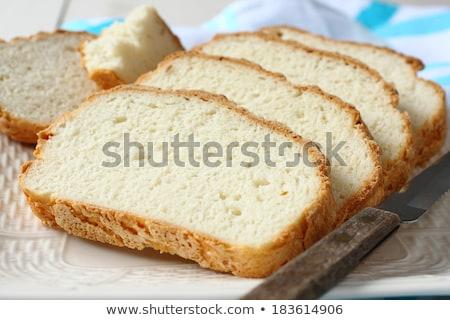 Frischen Ofen geschnitten Brot Platte Stock foto © Melnyk