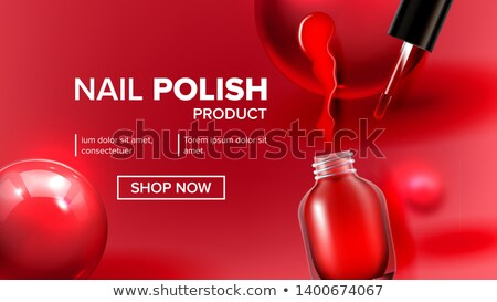 Red Nail Polish Product Vial Landing Page Vector Stock photo © pikepicture