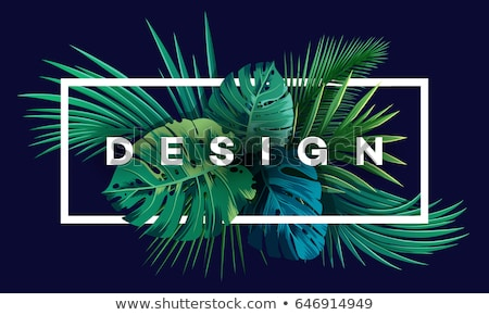 Monstera and Palm Tree Leaves and Branches Pattern Stock photo © robuart