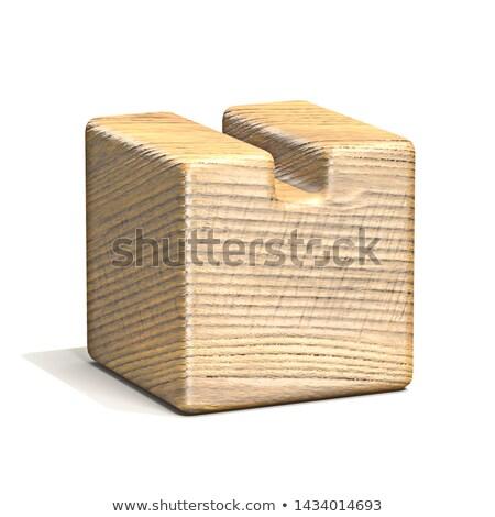 Sólido cubo fuente carta 3D Foto stock © djmilic