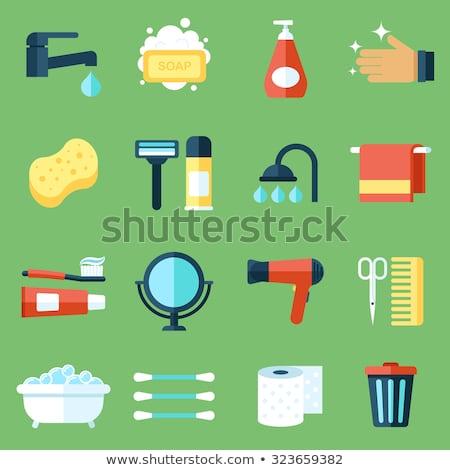 Higiene pessoal ícones conjunto banheiro cosméticos isolado Foto stock © netkov1