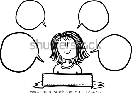 Girl Teacher Introduction Me Illustration Stock photo © lenm
