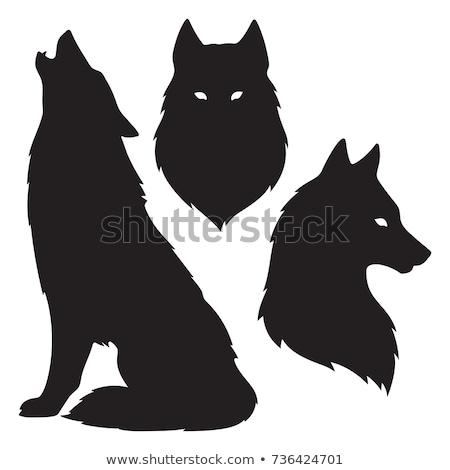 Stock photo: Decor animal silhouettes isolated illustration