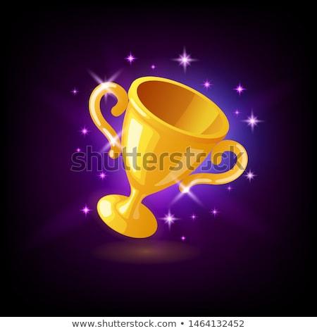 Or champion trophée tasse icône Photo stock © MarySan