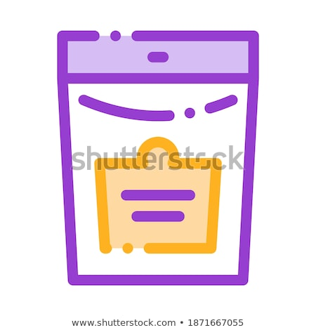 Bio Supplements Package Vector Thin Line Icon Stock photo © pikepicture
