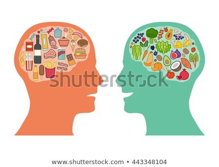 Egészségtelen étel agy egészség egészségtelen táplálkozás lehetőségek Stock fotó © Lightsource