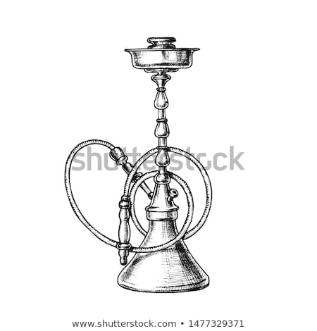 Smoking Hookah Lounge Cafe Instrument Retro Vector Stock photo © pikepicture