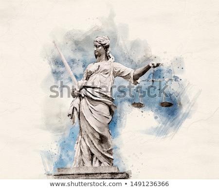 裁判官 · スケール · 正義 · 美しい · 深刻 - ストックフォト © unkreatives