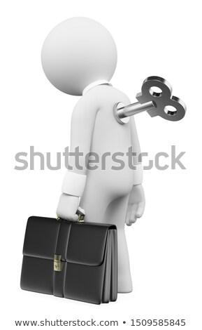 3D · pessoas · brancas · homem · para · cima · empregado · motivação - foto stock © texelart