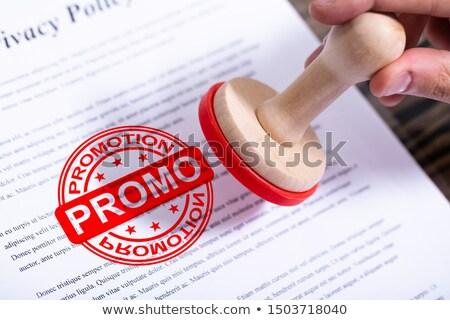 Сток-фото: бизнесмен · поощрения · штампа · документа · стороны · бумаги