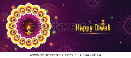 Criador diwali festival bandeira projeto Foto stock © SArts