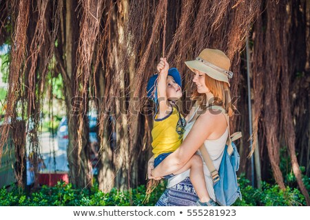 Mujeres Vietnam viajero hermosa árbol aéreo Foto stock © galitskaya