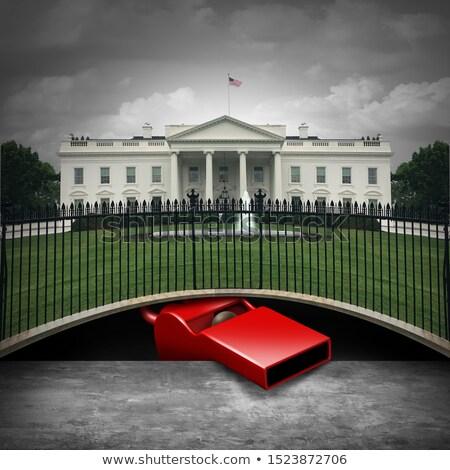 白い家 深い 笛 ブロワー 政治的 匿名の ストックフォト © Lightsource
