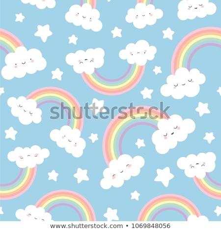 vert · paysage · Rainbow · ciel · nuages · nature - photo stock © get4net