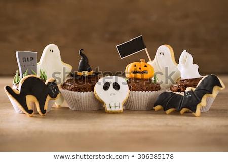 Halloween dessert vorm graf selectieve aandacht kinderen Stockfoto © furmanphoto