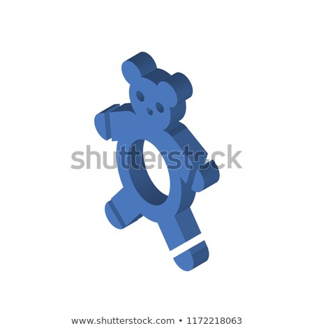 Cute bear and sleeping rabbit on top of penguin cartoon  Stock photo © amaomam
