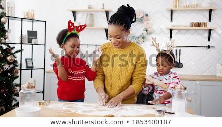 pão · de · especiarias · família · bandeja · mulher · homem - foto stock © przemekklos