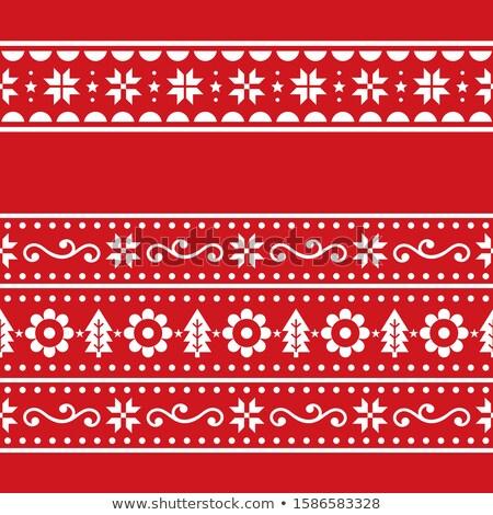 Christmas kunst vector repetitieve ingesteld Stockfoto © RedKoala