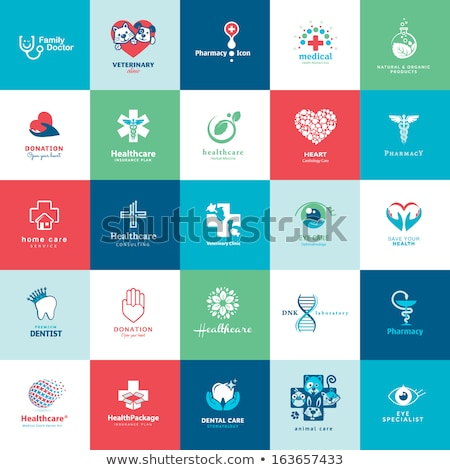 Hand with pharmacy cross. Flat icon. Medicine vector illustration Stock photo © Imaagio