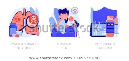 Baixar respiratório médico lupa crânio pneumonia Foto stock © RAStudio