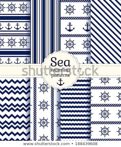 Sem costura vertical ziguezague padrão listrado azul Foto stock © ExpressVectors