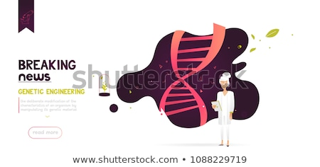 Gene therapy concept vector illustration. Stock photo © RAStudio