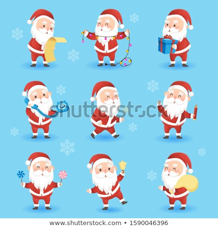 Natal engraçado papai noel lâmpada Foto stock © MarySan