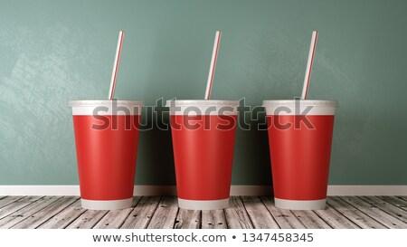Fast-food içme fincan duvar bir Stok fotoğraf © make