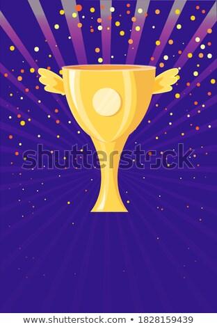 чемпион премия Кубок крыльями плакат конфетти Сток-фото © robuart