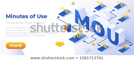 Mou - Isometric Vector Illustration Website Banner Layout Template Foto stock © Tashatuvango
