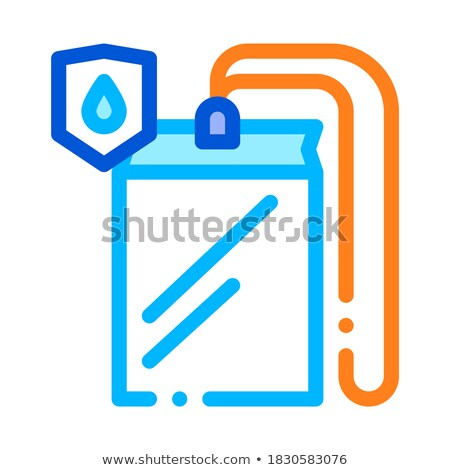 Waterproof Material Thing Cover Vector Line Icon Stock photo © pikepicture