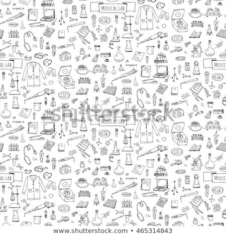Stethoscoop medische apparatuur cartoon doodle vector Stockfoto © foxbiz