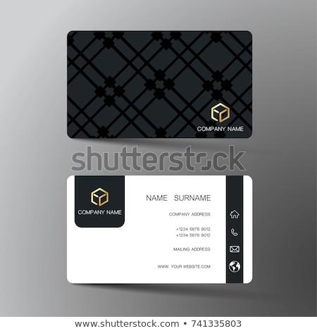 Abstract meetkundig moderne visitekaartje sjabloon ontwerp Stockfoto © SArts