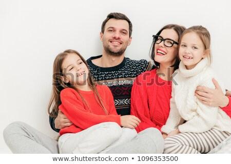 Család gyerekek emberek boldog elragadtatott aranyos Stock fotó © vkstudio