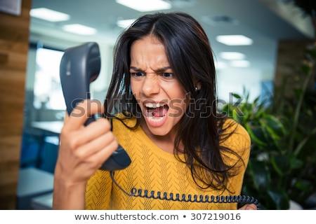kiált · kép · agresszív · főnök · kiabál · telefonkagyló - stock fotó © pressmaster